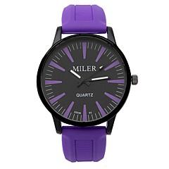 preiswerte Herrenuhren-CAGARNY Damen Modeuhr / Armbanduhr Cool / / / Mehrfarbig Silikon Band Süßigkeit / Freizeit Schwarz / Weiß / Rot