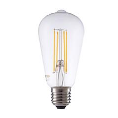 preiswerte LED-Birnen-GMY® 450lm E26 / E27 LED Glühlampen ST64 4 LED-Perlen COB Abblendbar Dekorativ Warmes Weiß 220-240V