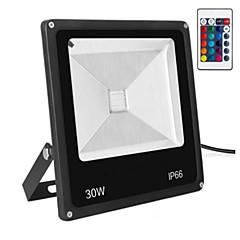 olcso Kültéri lámpák-LED projektorok Hordozható Távvezérelt Tompítható Könnyű beszerelni Vízálló Dekoratív Távvezérlésű Kültéri világítás RGB AC 85-265V
