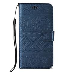 voordelige Galaxy A5 Hoesjes / covers-hoesje Voor Samsung Galaxy A5(2016) A3(2016) Kaarthouder Portemonnee met standaard Flip Reliëfopdruk Volledig hoesje Olifant Hard PU-nahka