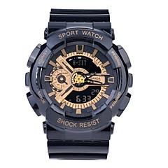 Χαμηλού Κόστους Γυναικεία ρολόγια-SANDA Αθλητικό Ρολόι / Έξυπνο ρολόι / Ρολόι Καρπού Χρονογράφος / Ανθεκτικό στο Νερό / LED σιλικόνη Μπάντα Καθημερινό / Μοντέρνα Μαύρο / Λευκή / Μπλε / Διπλές Ζώνες Ώρας / Χρονόμετρο / Νυχτερινή λάμψη