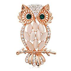 Moda rocznika rhinestone stopu i opale damska broszka codziennie / co dzień zwierząt kształtuje biżuterię