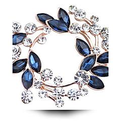 abordables Broches-Mujer Cristal Broche - Diamante Sintético, Cristal Austriaco Lujo Broche Fucsia / Dorado / Blanco / Blanco Para Boda / Fiesta / Diario