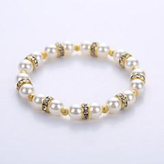 preiswerte Armbänder-Herrn / Damen Strang-Armbänder / Yoga-Armband - Perle, Künstliche Perle Armbänder Gold / Silber Für Party / Geburtstag / Herzliche Glückwünsche