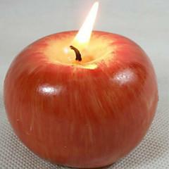 proceso de moldeo velas de frutas de manzana simulación de navidad