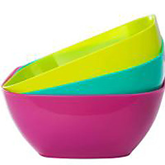 cheap Kitchen Storage-Hard Plastic Solid Color Lunch Box 1pc Kitchen Organization