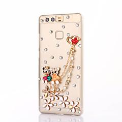 Для Чехлы панели Стразы Задняя крышка Кейс для 3D в мультяшном стиле Твердый PC для HuaweiHuawei P10 Plus Huawei P10 Lite Huawei P10