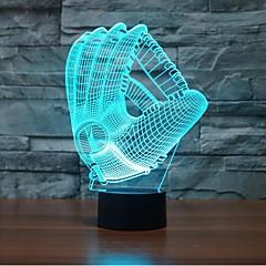 お買い得  LED アイデアライト-1枚 3Dナイトライト 自動タイプ / 調光可能 / 防水 LED / コンテンポラリー