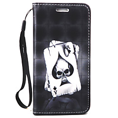 Для Кошелек / Бумажник для карт Кейс для Чехол Кейс для Череп Твердый Искусственная кожа для Samsung Note 5 / Note 4 / Note 3