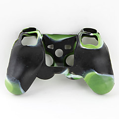 זול אביזרים ל PS3-Protective Dual-Color Style Silicone Case for PS3 Controller (Green and Black)