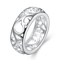 Ringe Halloween / Bryllup / Party / Daglig / Afslappet Smykker Plastik Dame Ring 1pc,7 / 8 Sølv / Kobberfarvet