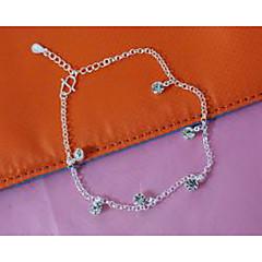 olcso Testékszerek-Női Bokalánc / Karkötők Ezüstözött Hamis gyémánt Divat Bokalánc Ékszerek Kompatibilitás Esküvő Parti Napi
