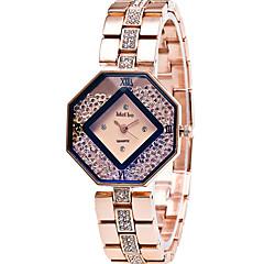 preiswerte Damenuhren-Damen Modeuhr / Armbanduhr / Facettierte Kristalluhren Cool / / Edelstahl Band Freizeit / Elegant Gold / Ein Jahr / SSUO 377