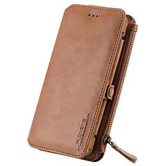 Для Кошелек / Бумажник для карт / со стендом Кейс для Чехол Кейс для Один цвет Твердый Натуральная кожа для SamsungNote 5 / Note 4 / Note