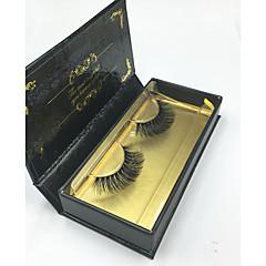 Pestañas Pestaña Pestañas Completas Ojos Entrecruzadas Grueso Pestañas Levantadas Denso Hecho a mano Fibra Black Band 0.07mm 14mm