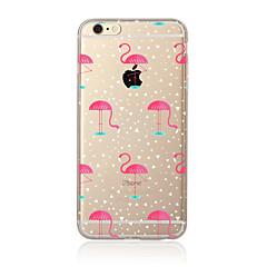 ケース 用途 Apple iPhone X iPhone 8 Plus iPhone 7 iPhone 6 iPhone 5ケース 半透明 パターン バックカバー フラミンゴ ソフト TPU のために iPhone X iPhone 8 Plus iPhone 8