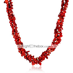 preiswerte Halsketten-Damen Kristall Stränge Halskette - Krystall Blume damas, Modisch Regenbogen, Rot Modische Halsketten Schmuck Für Party, Normal