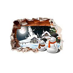 Χαμηλού Κόστους -Διακοπών / 3D Αυτοκολλητα ΤΟΙΧΟΥ 3D Αυτοκόλλητα Τοίχου Διακοσμητικά αυτοκόλλητα τοίχου,pvc Υλικό Αρχική Διακόσμηση Wall Decal