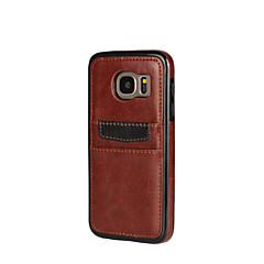 voordelige Galaxy A5 Hoesjes / covers-hoesje Voor Samsung Galaxy A5(2016) A3(2016) Kaarthouder Schokbestendig Achterkantje Effen Kleur Zacht PU-leer voor A7(2016) A5(2016)