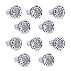 お買い得  LED電球-GU10 LEDスポットライト T 4 LEDの SMD 3030 装飾用 温白色 クールホワイト 300-400lm 2800-3200/6000-6500