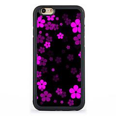 Назначение Кейс для iPhone 7 Кейс для iPhone 6 Кейс для iPhone 5 Чехлы панели С узором Задняя крышка Кейс для Цветы Твердый Алюминий для
