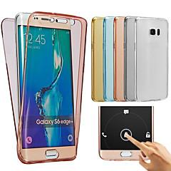 halpa Muut Samsung kotelot / kuoret-Etui Käyttötarkoitus Samsung Galaxy Samsung Galaxy kotelo Läpinäkyvä Suojakuori Yhtenäinen väri Pehmeä TPU varten J7 (2016) J7 J5 (2016)