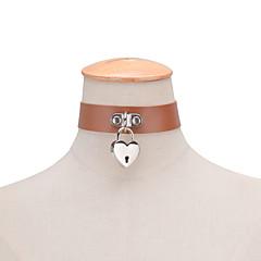 preiswerte Halsketten-Damen Halsketten / Anhängerketten / Statement Ketten - Leder Liebe Erklärung, Punk, Modisch Schwarz, Braun, Rot Modische Halsketten Für Hochzeit, Party, Alltag