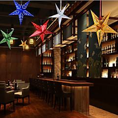 Χαμηλού Κόστους -τα αστέρια πεντάγωνο κρεμάσει ενεργεί το ρόλο των παραθύρων χριστουγεννιάτικα στολίδια διακοπές τυχαία το χρώμα των 30 εκατοστών