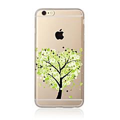 Недорогие Кейсы для iPhone 5-Кейс для Назначение Apple iPhone X iPhone 8 Plus Кейс для iPhone 5 iPhone 6 iPhone 7 Прозрачный С узором Кейс на заднюю панель дерево