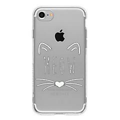 Недорогие Кейсы для iPhone 7-Кейс для Назначение Apple iPhone 7 / iPhone 6 / Кейс для iPhone 5 Ультратонкий / Прозрачный / С узором Кейс на заднюю панель Кот Мягкий ТПУ для iPhone 7 Plus / iPhone 7 / iPhone 6s Plus