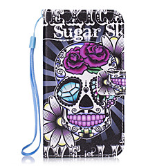 tanie Galaxy S3 Etui / Pokrowce-Kılıf Na Samsung Galaxy S8 Plus S8 Portfel Etui na karty Z podpórką Etui na tył Czaszki Twarde Sztuczna skóra na S8 S8 Plus S7 edge S7 S6