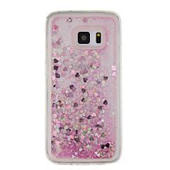 halpa Galaxy S6 kotelot / kuoret-Etui Käyttötarkoitus Samsung Galaxy S7 edge S7 Virtaava neste Kuvio Takakuori Kimmeltävä Pehmeä TPU varten S7 edge S7 S6 edge S6 S5