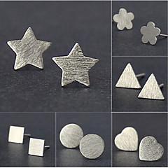 preiswerte Halsketten-Damen Ohrstecker - versilbert Blume, Stern Grundlegend, Simple Style, Modisch Silber Für Hochzeit / Party / Alltag