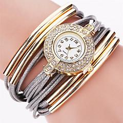 preiswerte Damenuhren-Damen Quartz Armbanduhr Armband-Uhr Strass Mehrfarbig Imitation Diamant Punk PU Band Charme Glanz Retro Süßigkeit Freizeit Böhmische