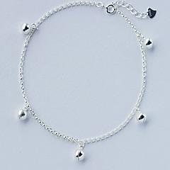 お買い得  ボディージュエリー-アンクレット - 純銀製 ファッション シルバー 用途 日常 カジュアル 女性用