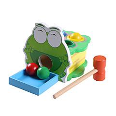 Bälle Bildungsspielsachen Spielzeuge Neuartige Frosch Holz Zeichentrick Stücke Jungen Mädchen Weihnachten Geburtstag Kindertag Geschenk