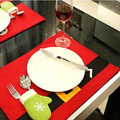 él a szálloda éttermében díszíteni asztal mat kreatív karácsonyi termékek
