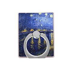 olie maleri mønster plast ringholder / 360 roterende til mobiltelefon iphone 8 7 samsung galaxy s8 s7
