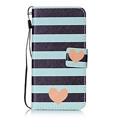 Case Kompatibilitás Samsung Galaxy S7 edge S7 Kártyatartó Pénztárca Állvánnyal Flip Minta Teljes védelem Vonalak / hullámok Kemény Műbőr