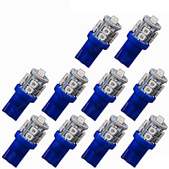 abordables Luces de Circulación Diurna-SO.K 10pcs T10 Coche Bombillas 1 W SMD 3528 80 lm 10 LED Luz de Intermitente For Universal