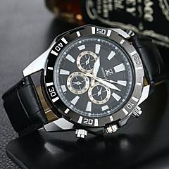 お買い得  大特価腕時計-男性用 クォーツ リストウォッチ カジュアルウォッチ PU バンド カジュアル ドレスウォッチ ファッション ブラック ブラウン