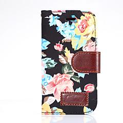 Voor Samsung Galaxy alpha ace stijl lte case cover bloemen pu leren mobiele telefoon holster