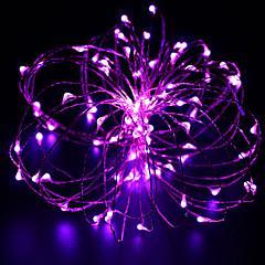 10m 100 ledet kobbertråd ledet lysstreng starlight strømadapter (ukuseuau plug) festival lys