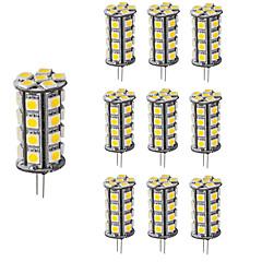 お買い得  LED 電球-4W G4 LED2本ピン電球 T 30 SMD 5050 360 lm 温白色 クールホワイト 明るさ調整 装飾用 DC 12 V 10個