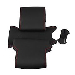 Недорогие Чехлы для сидений и аксессуары для транспортных средств-ziqiao черный натуральная кожа руль покрытие для Nissan Qashqai X-TRAIL NV200 мошенника
