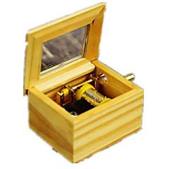 Music Box Kwadrat Drewniany Dla chłopców Dla dziewczynek