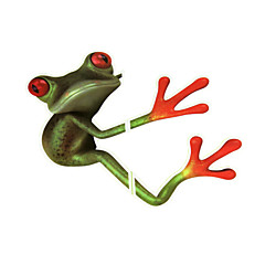 hesapli -ziqiao 3d kurbağa su geçirmez araba sticker komik geko otomobiller&motosiklet sticker çıkartma
