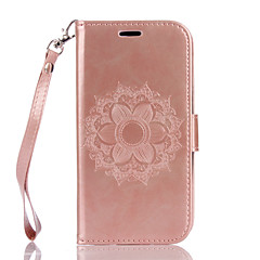 For LG K10 K8 PU Leather Material Datura Flowers Pattern Butterfly Phone Case for K7 G4 G3