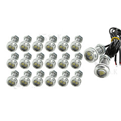 X 9w (20)는 백업 주차 신호 12V 역 독수리 눈 빛 자동차 안개 DRL 낮 주도