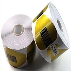 500PCS 논문은 말굽 용지가 매니큐어 도구 아크릴 확장 광선 요법 패키지를 확장 보유하고있다